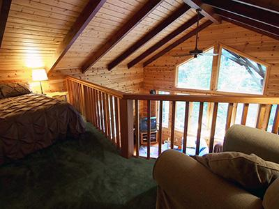Sequoiatude, Sleeping Loft with Queen Bed
