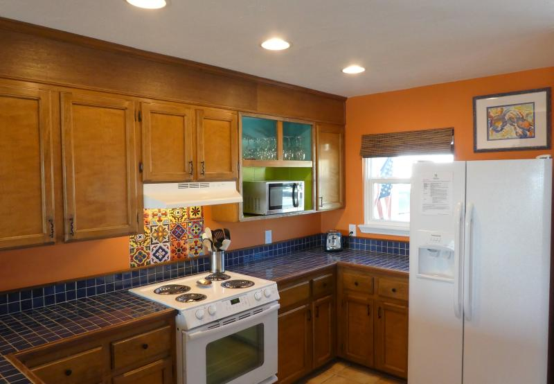 Well equipped kitchen with everything you need for your stay