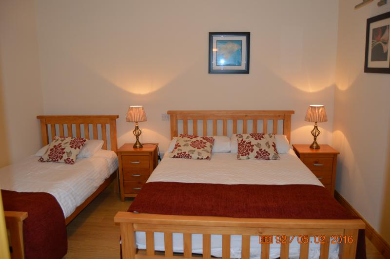 Perfect apt for 5, city ctr 10 min, quiet and peaceful and great location, holiday rental in Castleknock