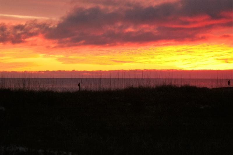 Sunset from the back deck of Siesta Dunes