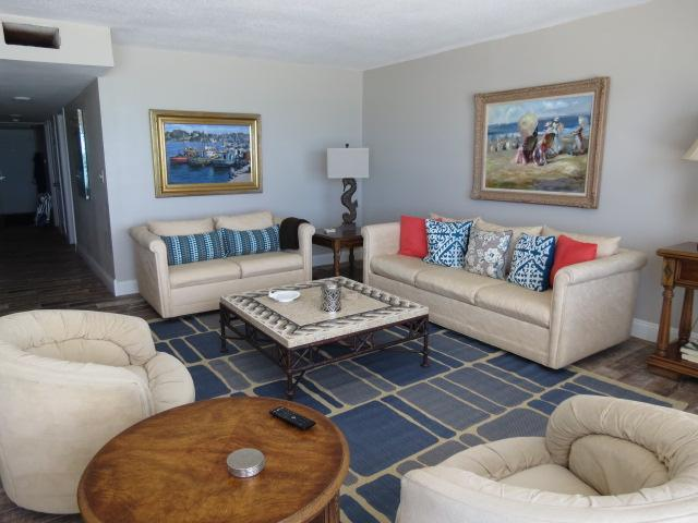 Spacious living in a newly remodeled condo. Beautiful gulf and beach view with spectacular sunsets.