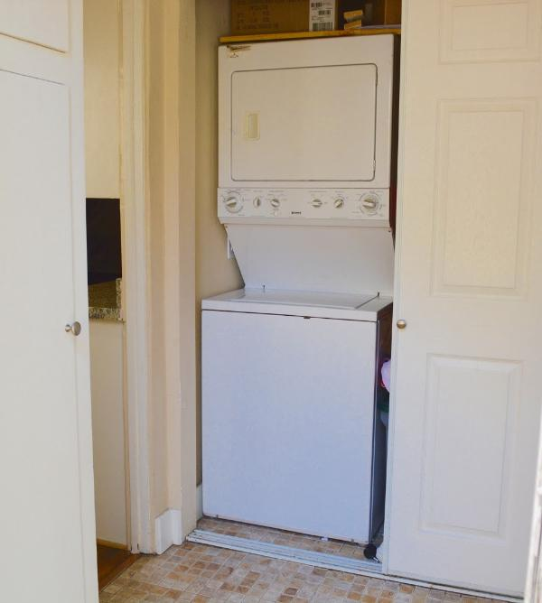washer and dryer in house