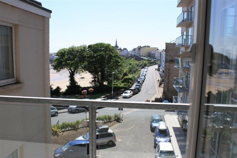 Lovely views of beach, harbour and Tenby town from kitchen