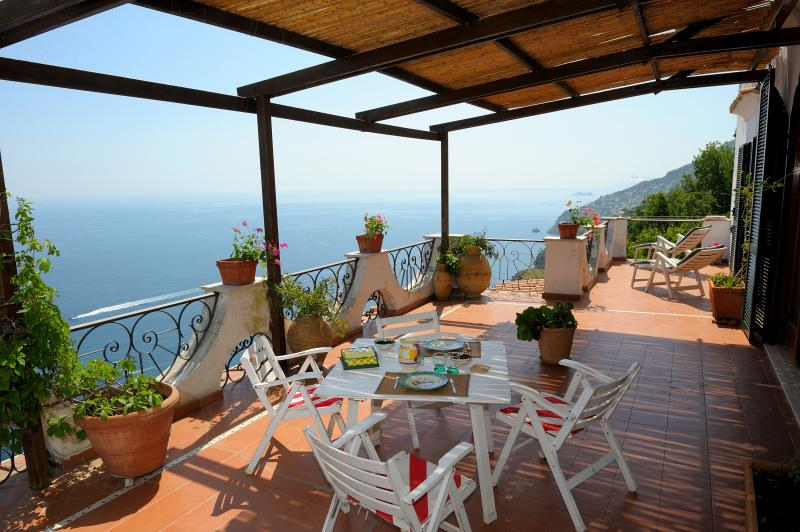 Private terrace overlooking the sea