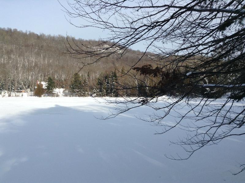 Brochet lake on winter