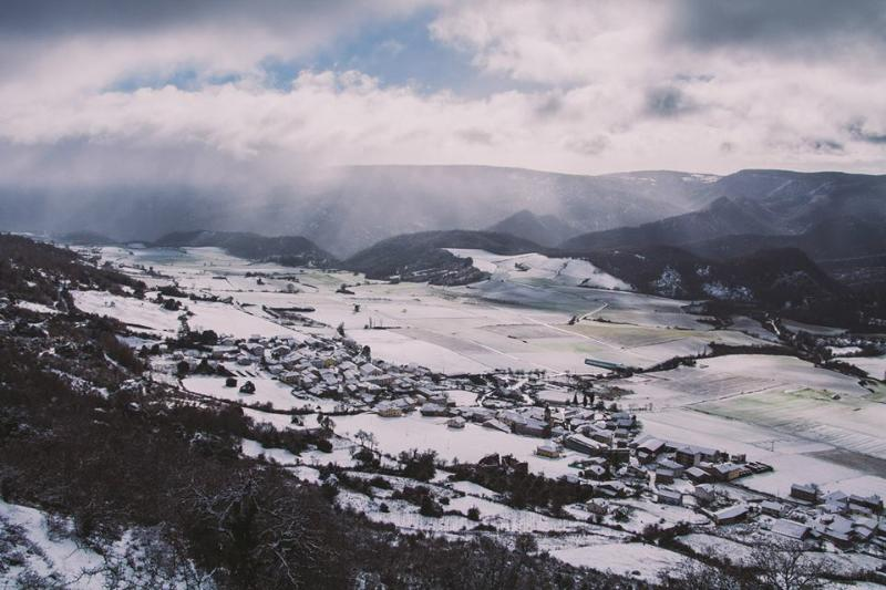 Eulate nevado desde Urbasa