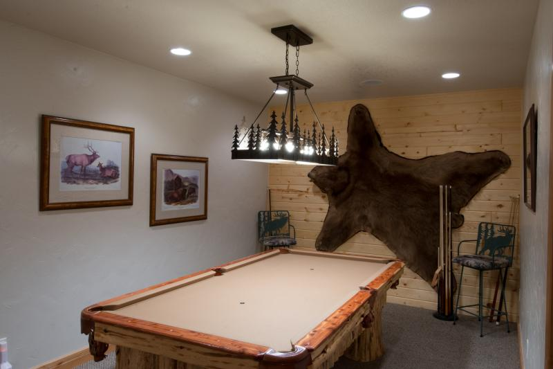 The billiard room - fancy talk for the pool table room! ;-)