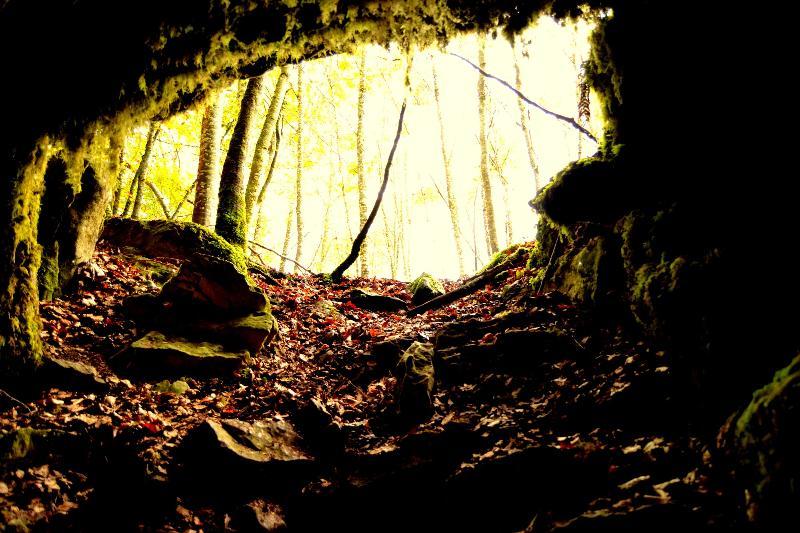 Una de las cuevas de Urbasa