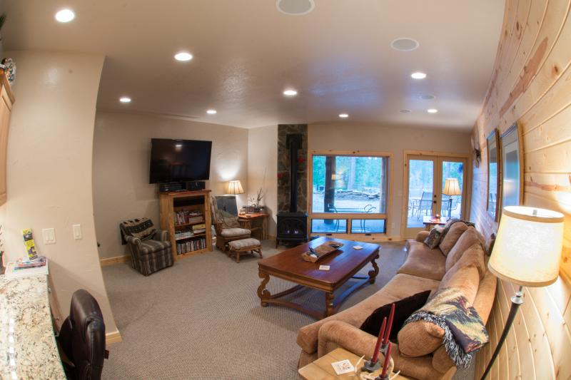 60 inch TV with hundreds of channels and a blue-ray DVD player for rainy days or just relaxing!
