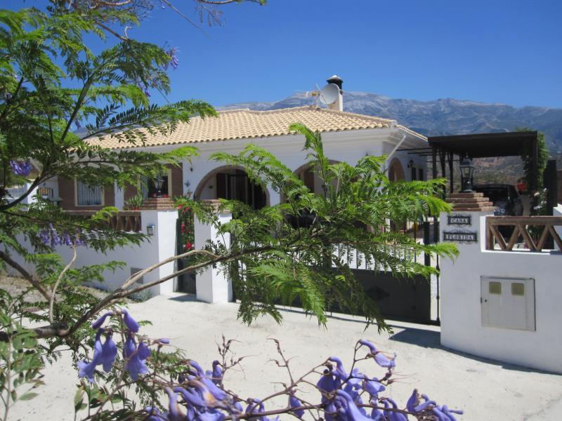 Frontage of villa