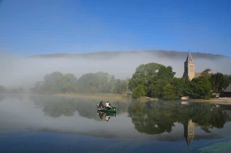 On the way to Inchmahome Priory on an island in the Lake of Menteith, just a short drive away.