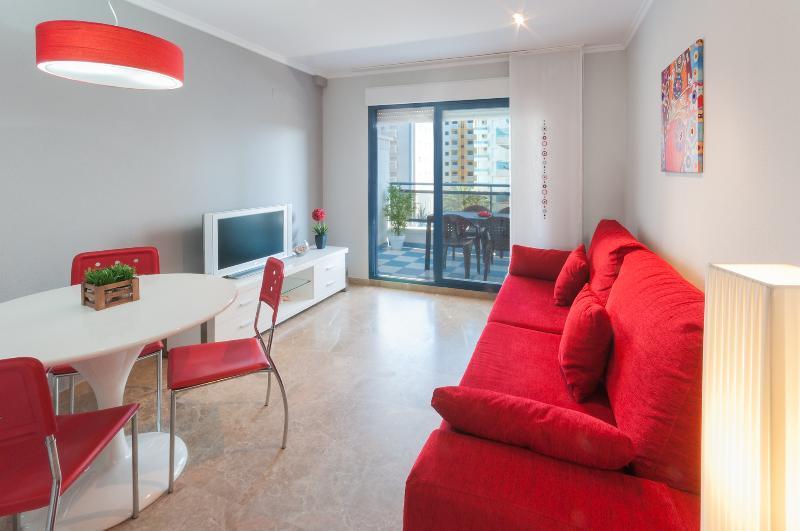 salon con acceso a terraz