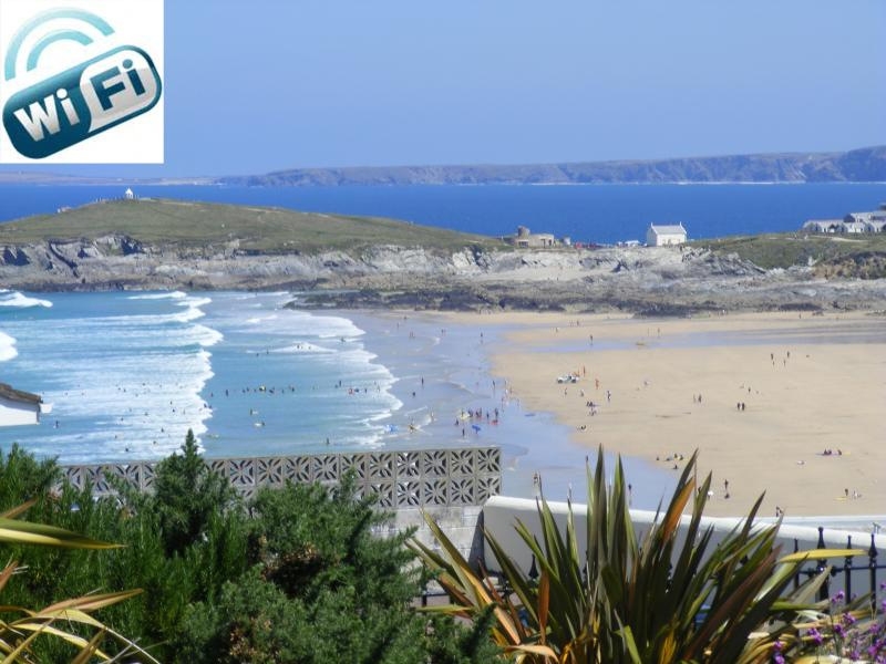 View From Fistral Retreats Garden overlooking Fistral Beach