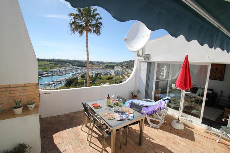 Private terrace with great sea and marina views