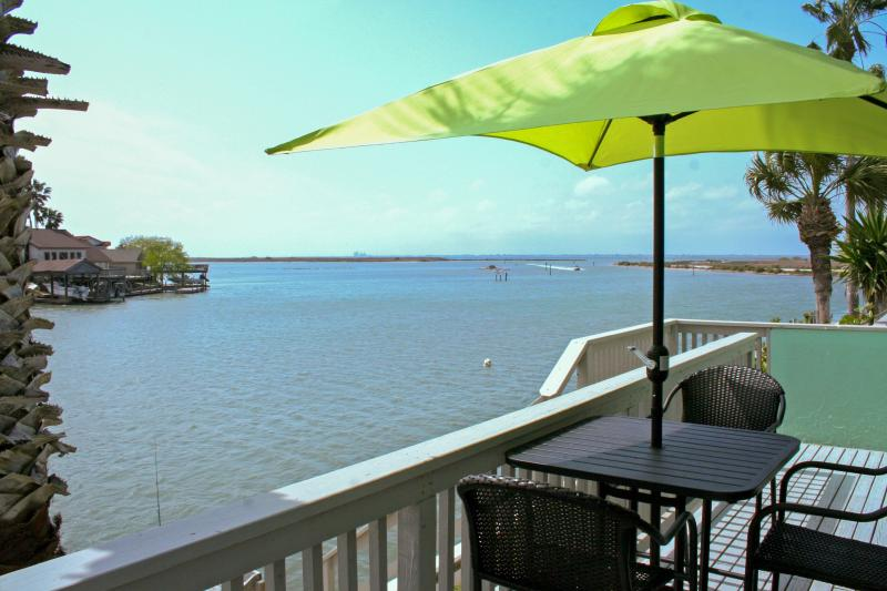 Enjoy this waterfront Corpus Christi vacation rental condo!