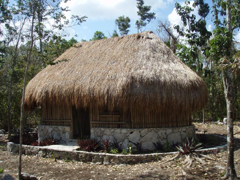 Mayan Cabana at Villa Maya sleep on a hammock