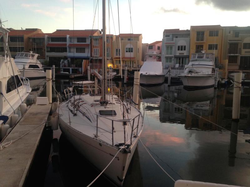 Sail Boat Bonne Chance docked in Palmas