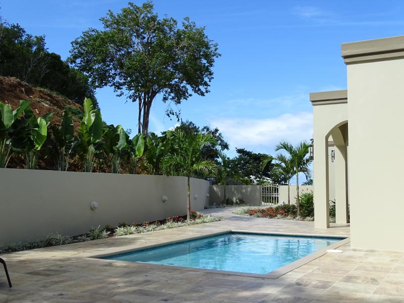 The courtyard and pool area