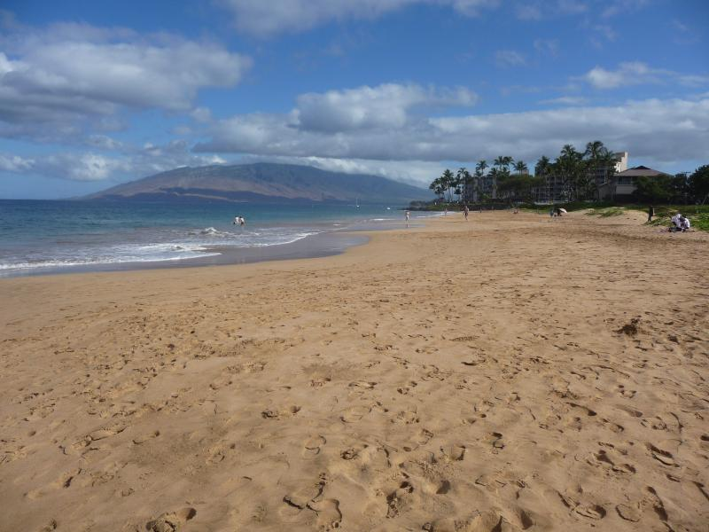 View of Lanai from Kamaole II beach