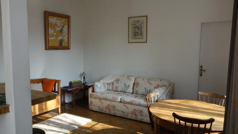 Le salon, et le canapé lit