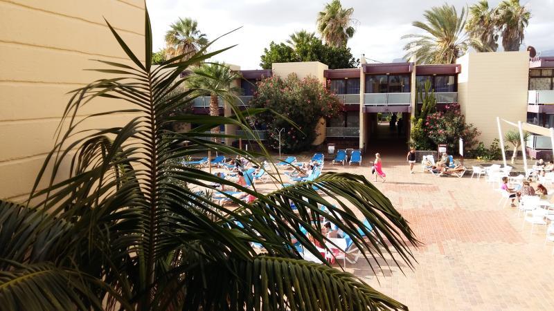 the pool bar area