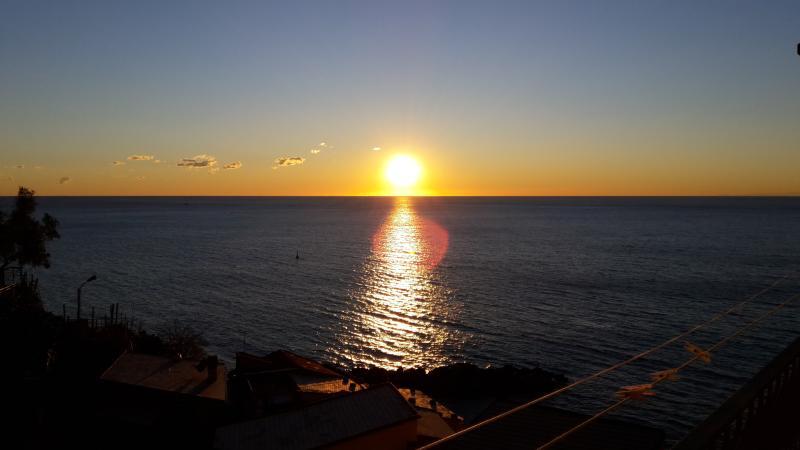 Vista del tramonto dal terrazzo