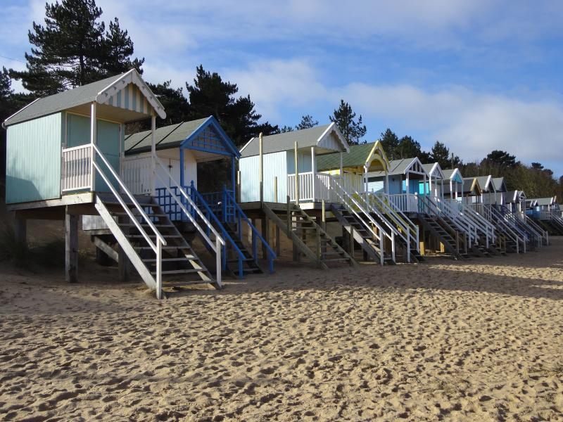 Some of Wells beach huts