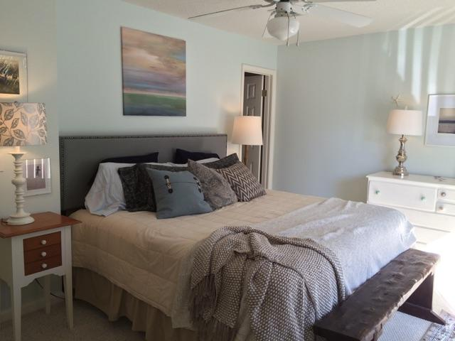 Newly remodeled master bedroom with new pillow top king and private balcony and bathroom