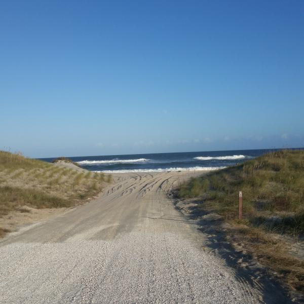 Beach access ramps near by within 1.5 miles to the south and 4 miles north. No driving on our beach