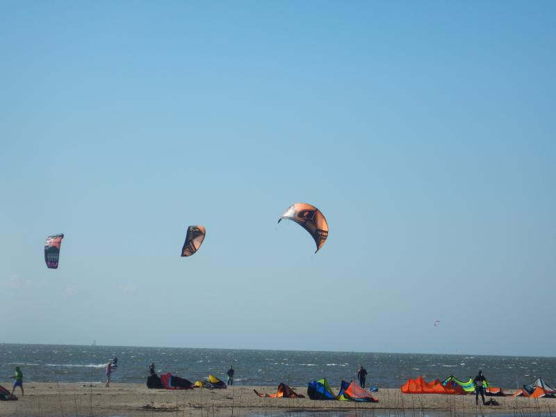 Hatteras is a very windy place. Perfect for water sports.