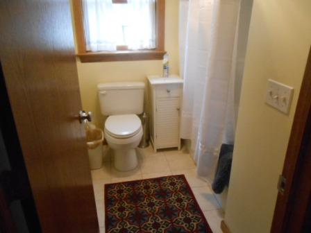 Separate toilet and shower area