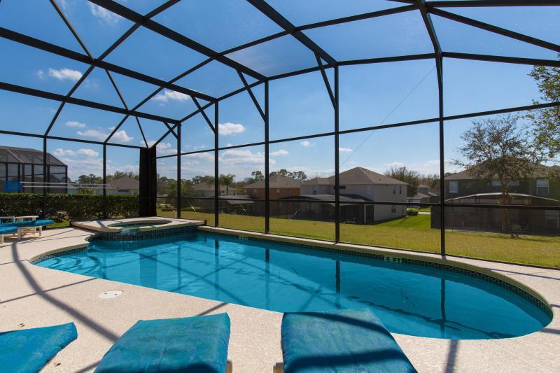South-facing pool and spa