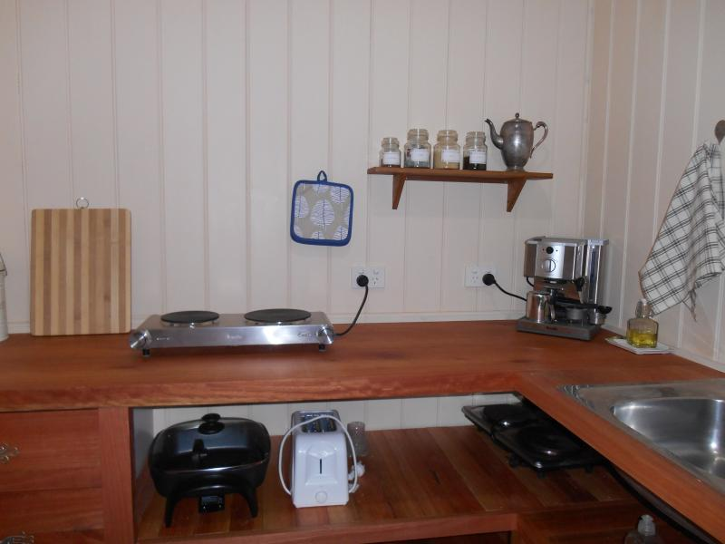 Private well-equipped kitchen.