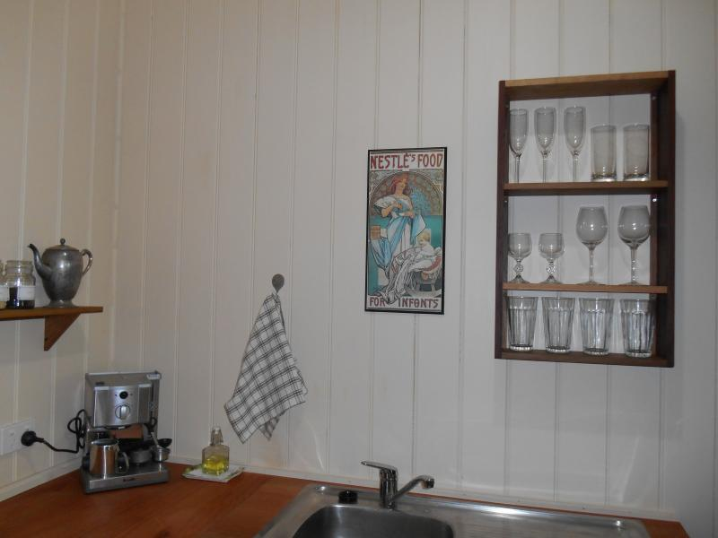 The kitchen has everything you need for self-catering.