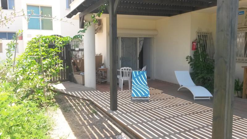 shadowed terrace