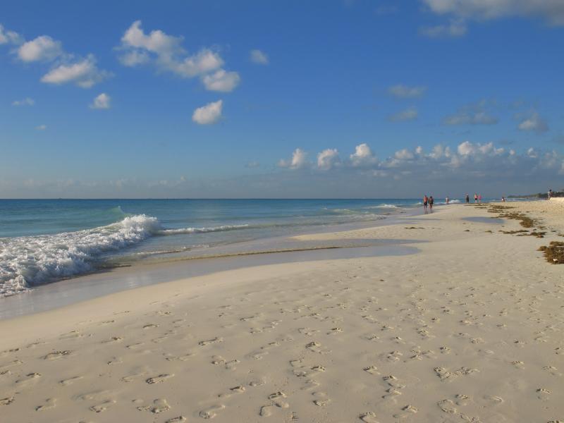 Beautiful Playacar beach is just 5 minutes walk