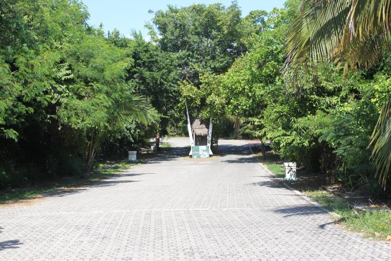 Casa Selva Caribe is at the end of this street