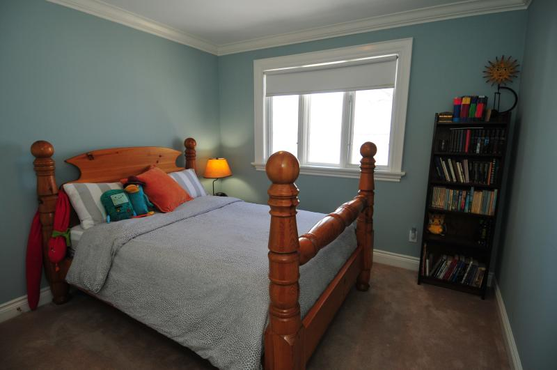 Upstairs B Rm with double bed. Overlooks the water.
