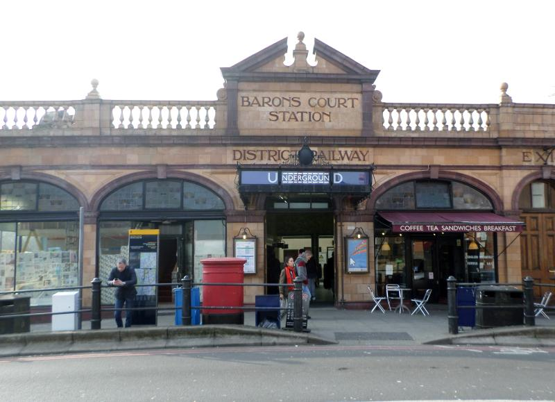 Barons Court Tube station (4 minutes walk from flat)