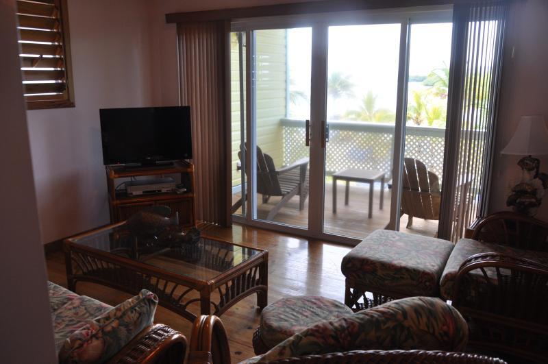 Reef Villa (upper) Living Area and balcony