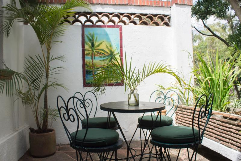 Private terrace for alfresco meals and drinks.