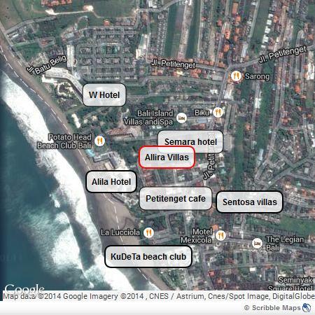 Fantastic location of Allira Villa.