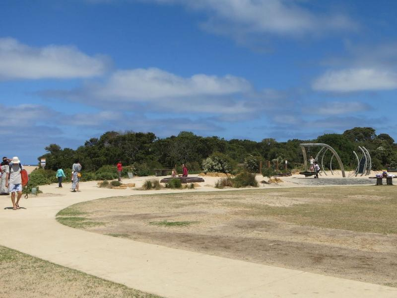 Fun play park next to the river mouth.
