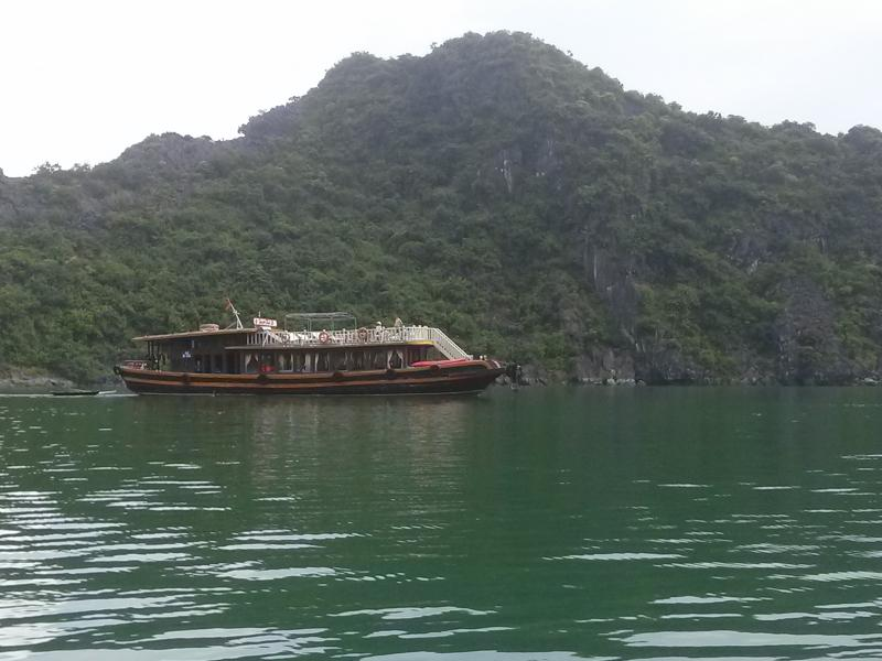 Wooden boat cruise on Halong Bay