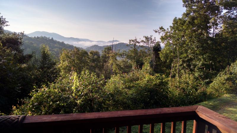 Smawlie Log Cabin: Secluded, Peaceful, Smokey Mountain Views near Nantahala Lake, Ferienwohnung in Andrews