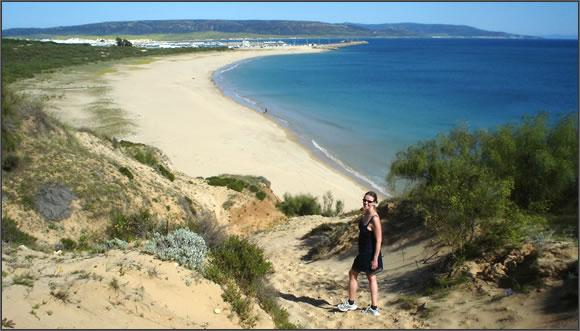 Just outside town there are completely unspoilt beaches on both sides.
