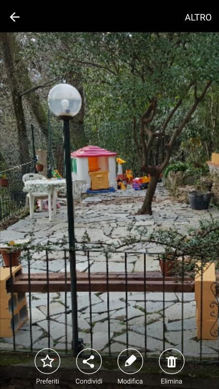 Porzione del giardino e angolo giochi..