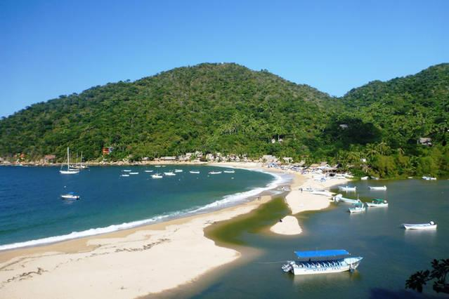 Yelapa beach with lagoon