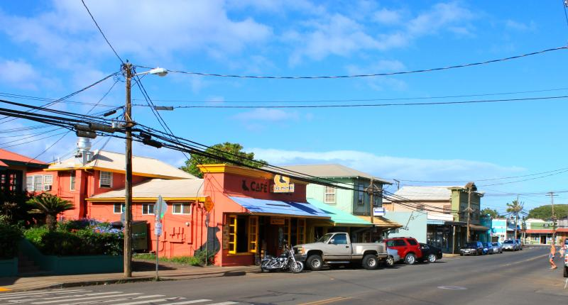 Paia town, a 5 minute walk from cottage is one of Mauai's most popular destinations.