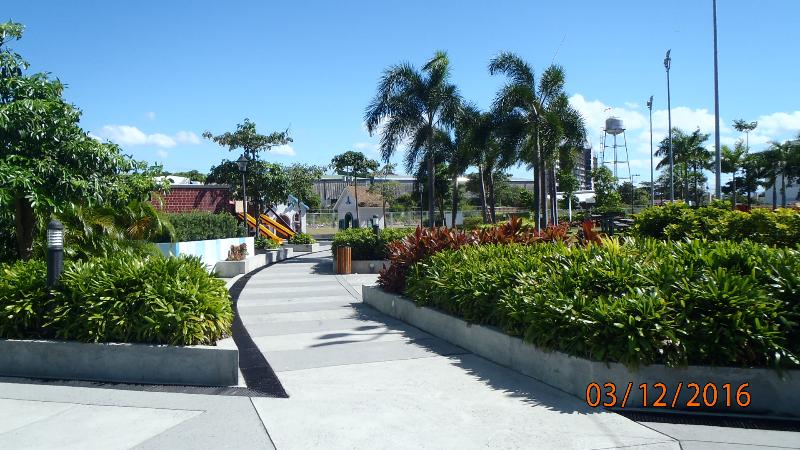 well manicured lawns and maintained walk ways connecting buildings and amenities.